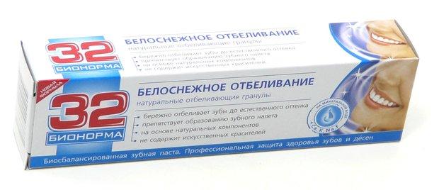 Отбеливающее вещество в зубной пасте
